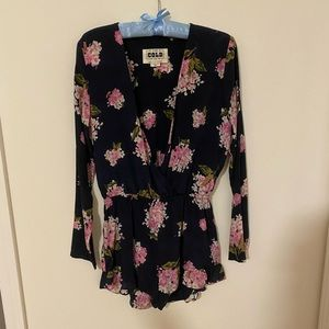 Stone Cold Fox Tops - Stone Cold Fox Silk Navy Floral Love Jumper